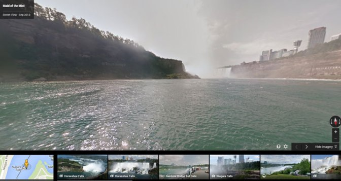 Google Maps offers dry tour of Niagara Falls, safe view of Buffalo Jump